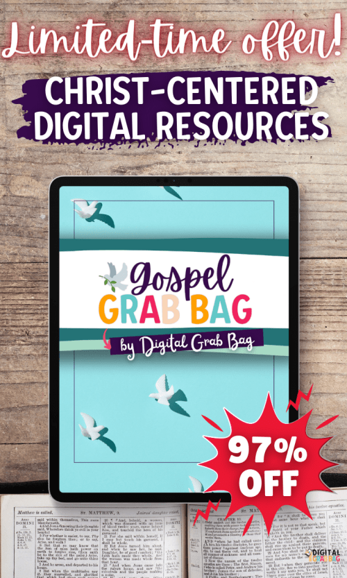 Gospel Grab Bag is full of Christ-centered resources for the entire family.