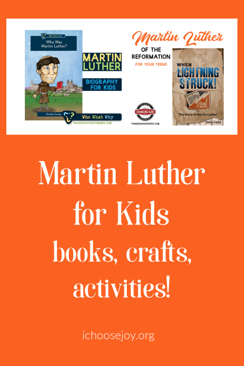 Martin Luther for Kids. Activities, books, crafts to help your kids learn about the Protestant Reformer Martin Luther.