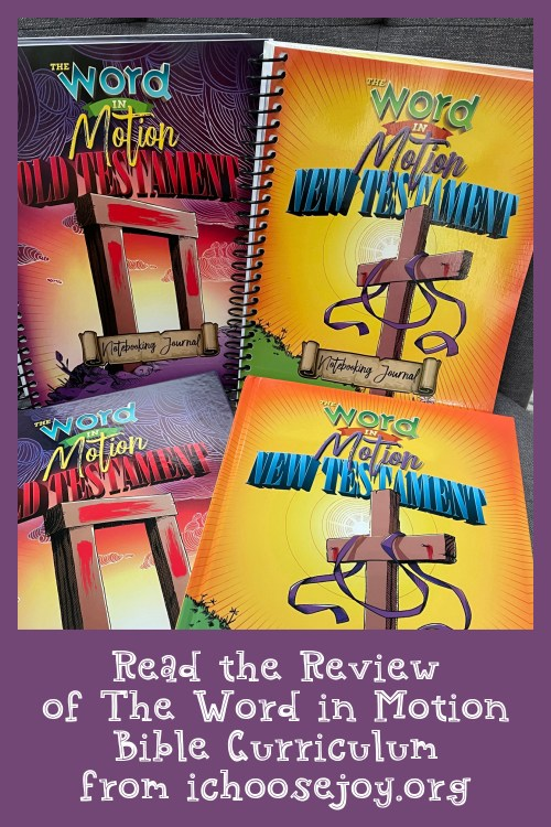 The Word in Motion review, Bible curriculum for homeschoolers from Apologia.