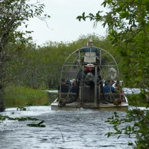 Start der Air Boat Tour