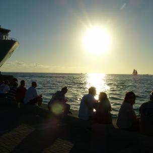 Amerika USA Florida Keys Key West Mallory Square Sonnenuntergang Meer