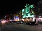 Amerika USA Florida Miami Beach Ocean Drive Neonlicht Nacht