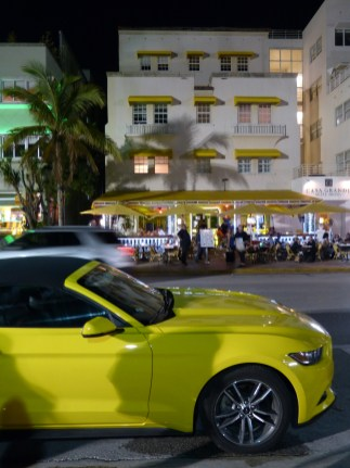 USA Florida Miami Beach Ocean Drive Muscle car