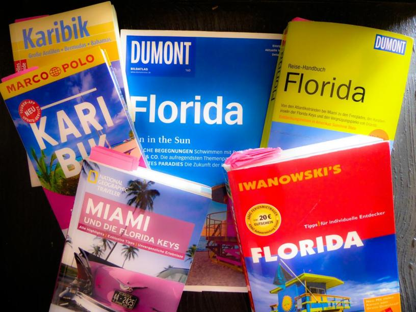 Reiseplanung Urlaubsvorbereitung Reiseführer Florida
