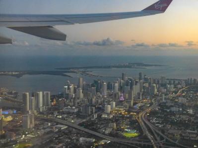Abflug über Miami