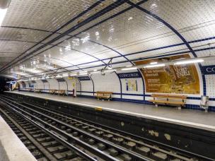 Paris Metro Station Concorde