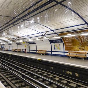 Paris Metro Station Concorde