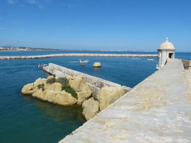 Algarve Lagos Hafen Fortaleza