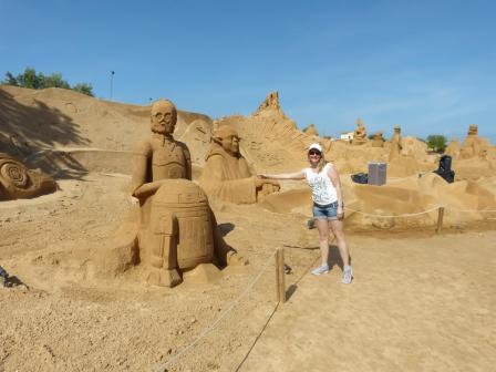 Algarve Pera Sand City Fiesa Sandskulpturen Star Wars