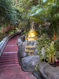 Thailand Bangkok Tempel Wat Saket Golden Mount