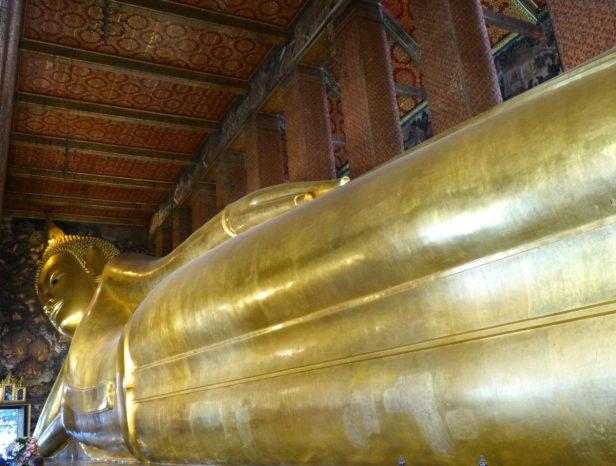 Thailand Bangkok Wat Pho Tempel Viharn Liegender Buddha