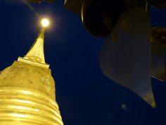 Thailand Bangkok Tempel Wat Saket Golden Mount Chedi