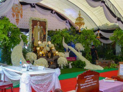 Thailand Bangkok Tempel Wat Pho Trauerfeier König