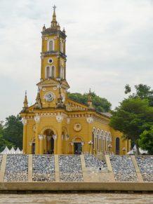 Thailand Ayutthaya Chao Phraya Bootsfahrt Reisbarke Kirche