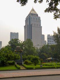 Thailand Bangkok Lumphini Park Wolkenkratzer