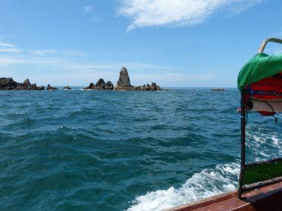 Thailand Koh Ngai Koh Hai Insel Andamanensee Inselparadies Meer Bootsausflug Felsen