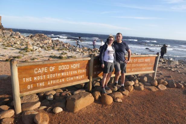 Südafrika South Africa Kap Halbinsel Cape Point Nationalpark Kap der Guten Hoffnung Cape of Good Hope Schid Längengrad Breitengrad südwestlichster Punkt Afrika