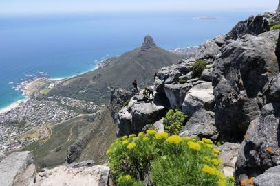 Südafrika Kapstadt Cape Town Tafelberg Table Mountain Ausblick Aussicht Camp's Bay Lion's Head Abseilen