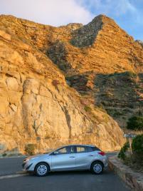 Südafrika South Africa Kap Halbinsel Chapman's Peak Drive Küstenstraße Mietwagen Toyota Yaris