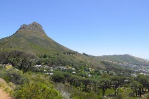 Südafrika Kapstadt Cape Town City Sightseeing Hop on Hop Off Bus Doppeldeckerbus Bustour Lion's Head