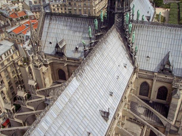 Frankreich Paris Notre Dame de Paris Kathedrale Glockenturm Turm Turmbesteigung Turmspitze Dach Vierung