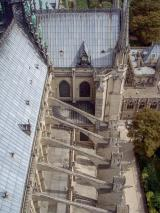 Frankreich Paris Notre Dame de Paris Kathedrale Glockenturm Turm Turmbesteigung Turmspitze Stützpfeiler Dach