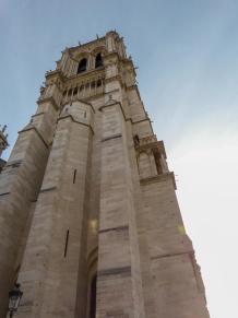 Frankreich Paris Notre Dame de Paris Kathedrale Gotik Kirchenschiff Glockenturm Nordturm