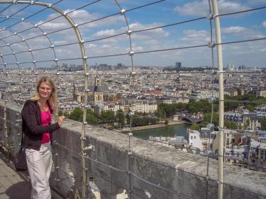 Frankreich Paris Notre Dame de Paris Kathedrale Glockenturm Turm Turmbesteigung Turmspitze Ausblick Seine