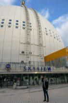 Schweden Stockholm SkyView Globen Gondel Ausblick