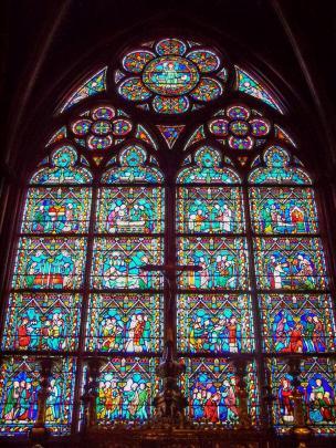 Frankreich Paris Notre Dame de Paris Kathedrale Gotik Schatzkammer Tresor Kirchenfenster Buntglas