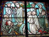 Frankreich Paris Notre Dame de Paris Kathedrale Gotik Kirchenschiff Innenraum Kirchenfenster