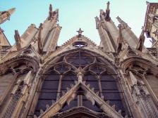 Frankreich Paris Notre Dame de Paris Kathedrale Gotik Kirchenschiff Nordfassade Wasserspeier