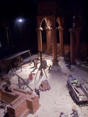 Frankreich Paris Notre Dame de Paris Kathedrale Bau Erbauung Modell