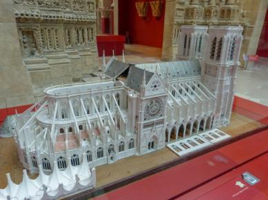 Frankreich Paris Notre Dame de Paris Kathedrale Modell Restaurierung Viollet-le-Duc Musee de l'Architecture