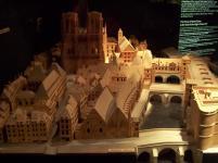 Frankreich Paris Notre Dame de Paris Kathedrale Modell Krypta Parvis Mittelalter