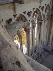Frankreich Paris Notre Dame de Paris Kathedrale Glockenturm Turm Turmbesteigung Galerie offen Bögen