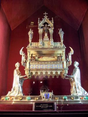 Frankreich Paris Notre Dame de Paris Kathedrale Gotik Schatzkammer Tresor Kirchenschatz Reliquien Croix Saint Claude