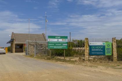 Südafrika South Africa Kap De Hoop Nature Reserve Naturreservat Einfahrt