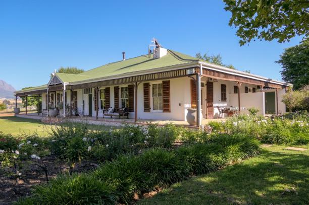Südafrika South Africa Weinregion Winelands Stellenbosch Hoopenburg Guesthouse Ranch Garten