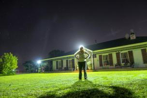 Südafrika South Africa Weinregion Winelands Stellenbosch Hoopenburg Guesthouse Garten Nacht