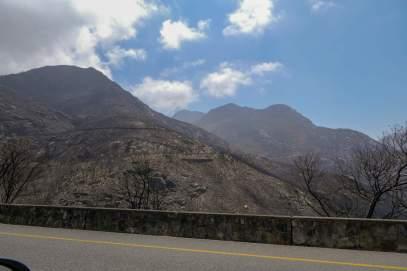 Südafrika South Africa Kleine Karoo Outeniqua Pass Berge Buschfeuer