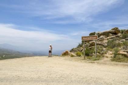 Südafrika South Africa Kleine Karoo Oudtshoorn Swartberge Swartberg Pass Berge Aussichtspunkt Skelmdraai