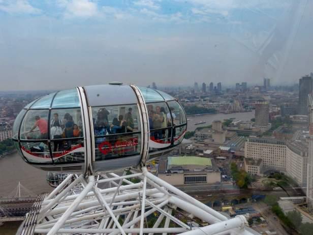 Großbritannien England UK London London Eye Riesenrad Ausblick Gondel Themse