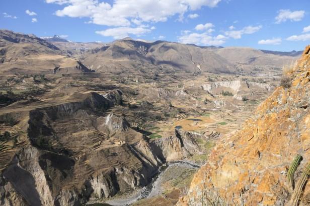 Südamerika Lateinamerika Peru Colca Valley Colca Canyon Landschaft Berg Terrassenfelder
