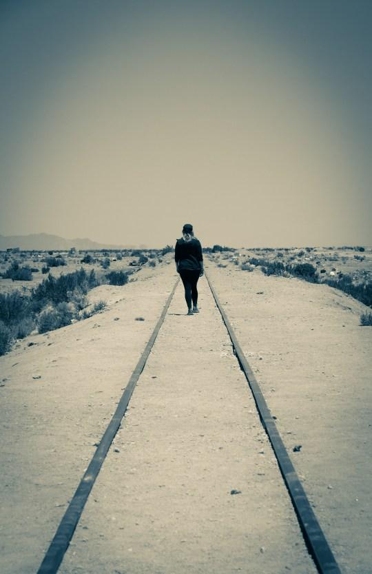 Südamerika Lateinamerika Bolivien Unyuni Zug Gleis Nichts
