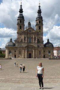 Deutschland Hessen Fulda Dom Domplatz