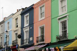 London England UK Notthing Hill Portobello Road Häuser bunt