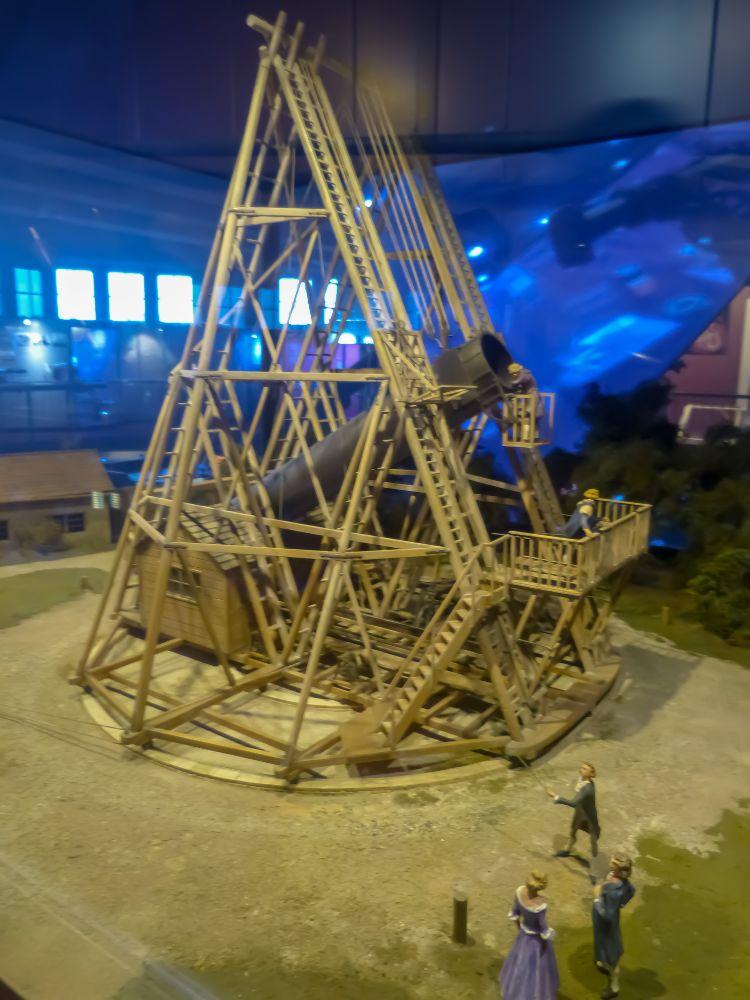 Deutsches Museum München Deutschland Naturwissenschaft Technik Astronomie Teleskop Modell