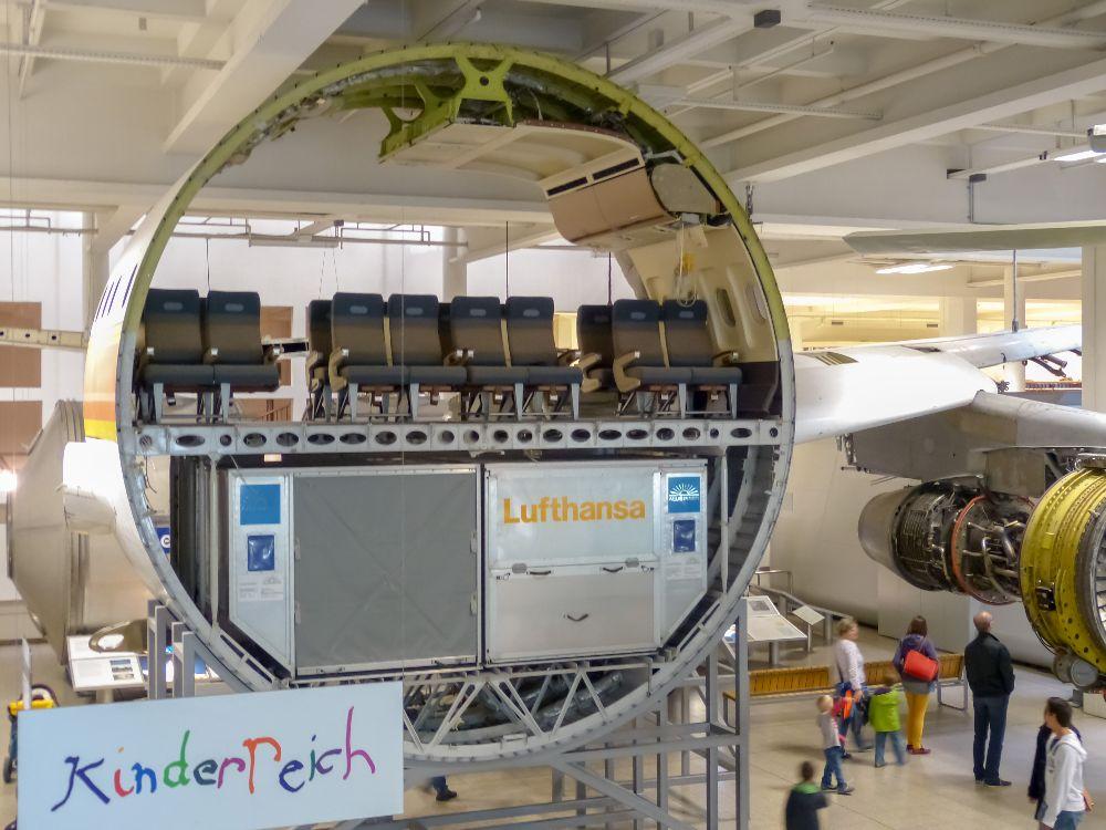Deutsches Museum München Deutschland Naturwissenschaft Technik Luftfahrt Lufthansa Flugzeug Querschnitt