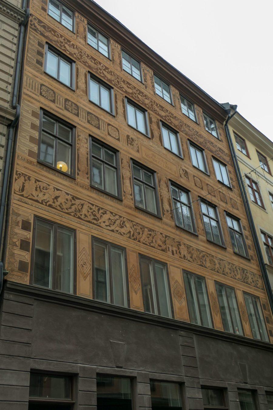 Stockholm Schweden Gamla Stan Stadsholmen Altstadt Haus